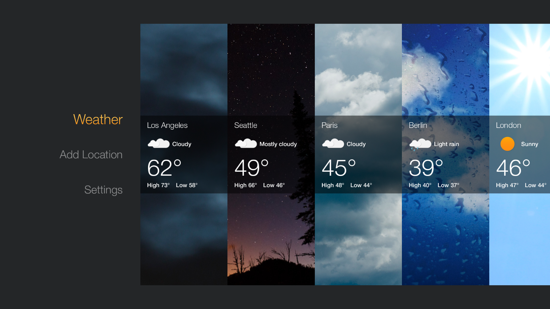 Amazon releases Official Weather App for the Fire TV and Fire TV Stick  #266DA5 1920 1080