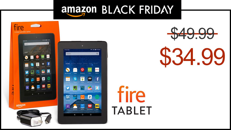 amazon to sell new fire 7 tablet for 34 99 this black friday