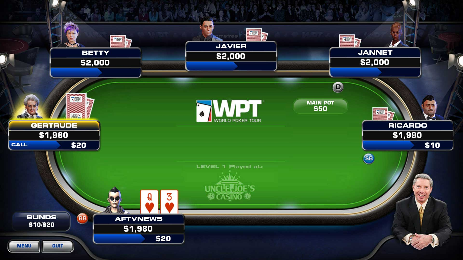 world poker tour application