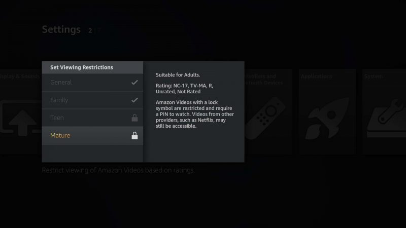 Amazon Fire TV parental controls can now restrict content by