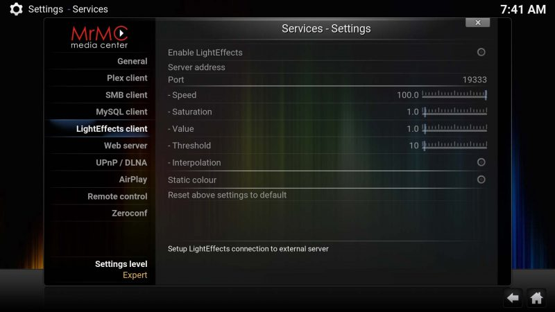 mrmc-lighteffects-boblight-client-options