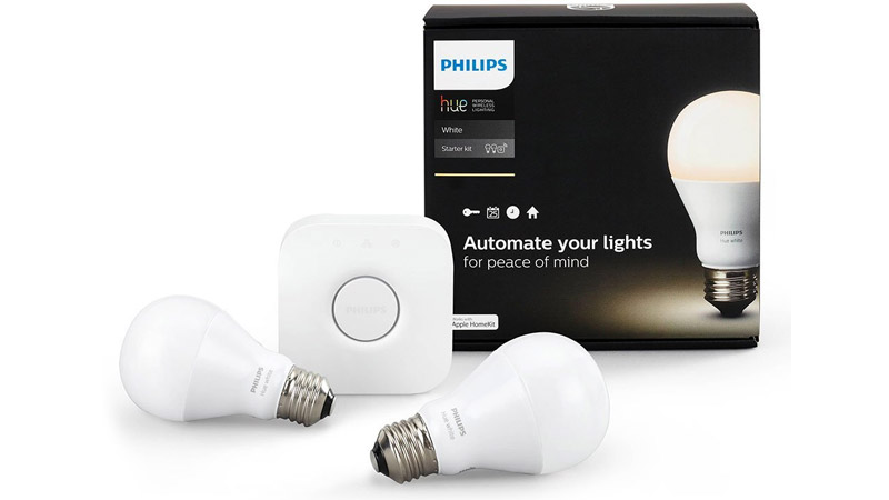 philips hue led starter kit with 2 bulbs is through. Black Bedroom Furniture Sets. Home Design Ideas