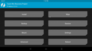 How to install TWRP custom recovery and an initial ROM on a