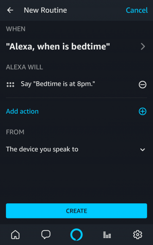 custom alexa responses can now be created right from the