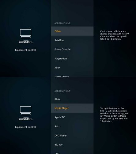 Overview of the Amazon Fire TV Cube\'s Equipment Control Setup ...