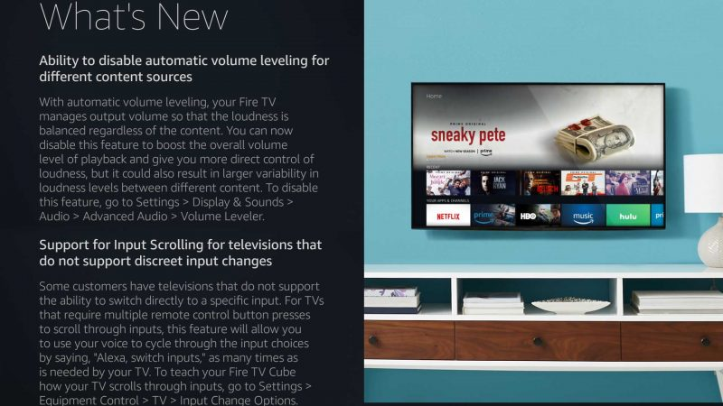 Amazon Fire TV Cube software update adds new advanced volume